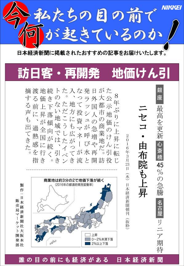 日本経済新聞MORI・MORIニュース 133号です。
