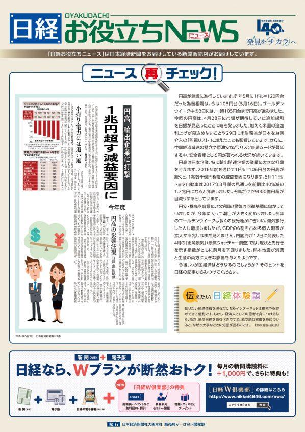 日経お役立ちニュース 3号です。